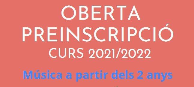 Preinscripció 2021/2022